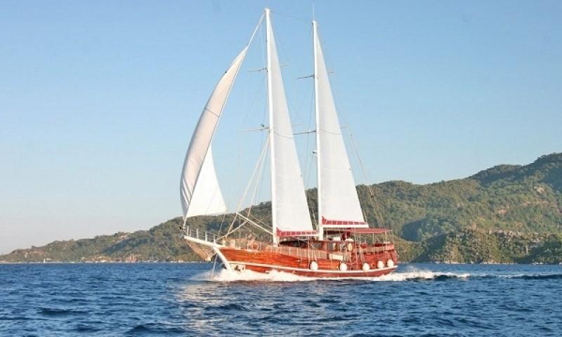 Meltemi during gulet cruises