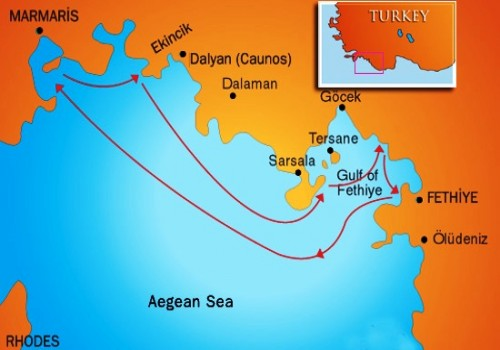 Marmaris-Fethiye Yacht Cruise