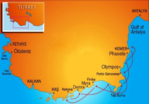 Antalya-Kekova Cruise (w/out AC)