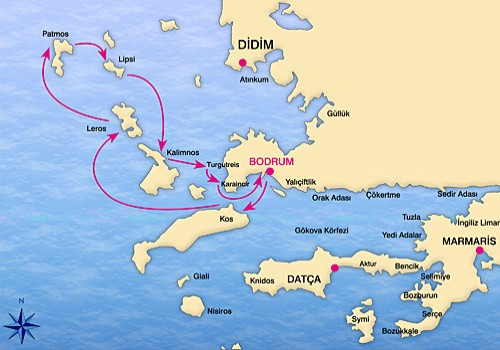 Bodrum-North Dodecanese Yacht Cruise