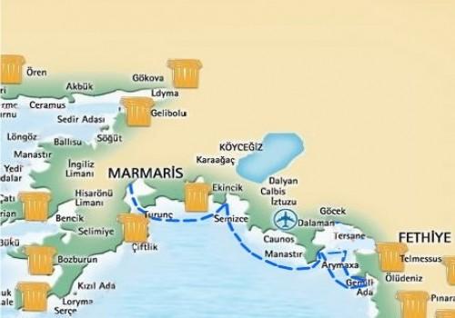 Marmaris-Fethiye Mini Blue Cruise