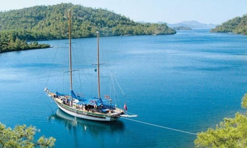 Navegar en un goleta en Turquía