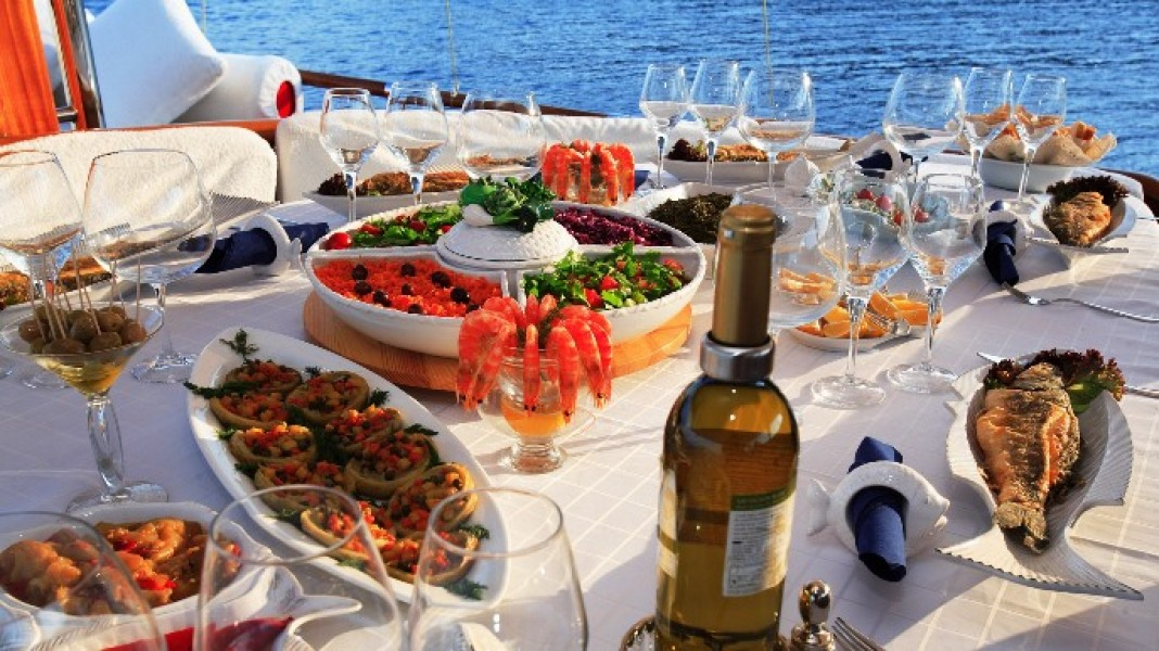 Cuisine turco su una Turchia Caicco Crociera