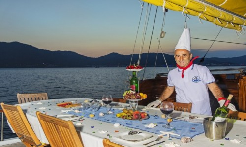 Turkish Cuisine on a Blue Cruise yacht